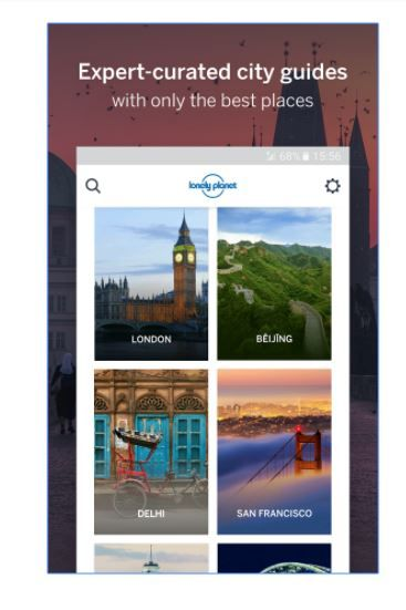 9 travel apps - guides by lonely planet