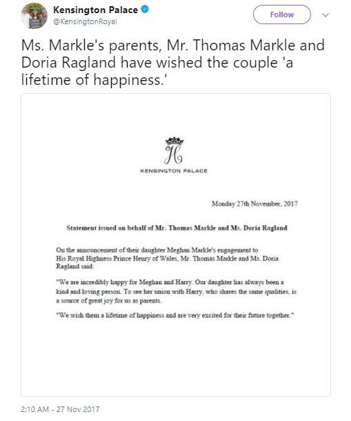 2. Prince harry and meghan markle engagement announcement