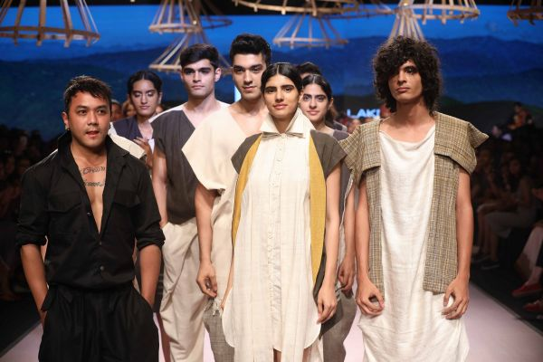 1- Daniel Syiem presenting his collection at Lakme Fashion Week Summer Resort 2018