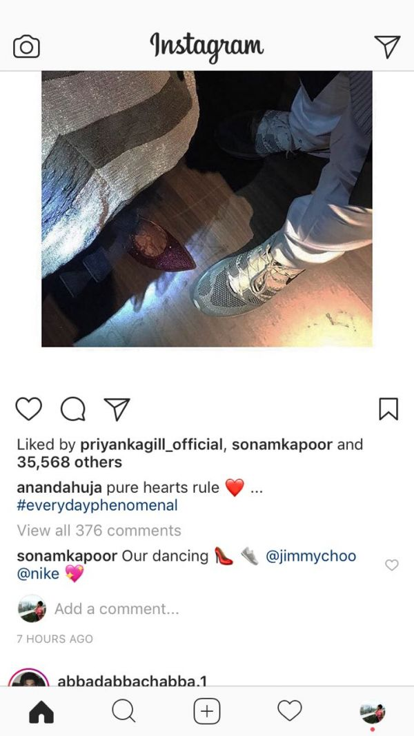 sonam reply on anand picture
