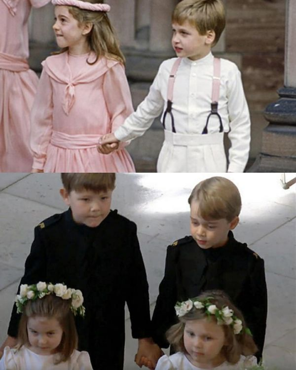 12 princess charlotte and prince george at meghan markle's wedding