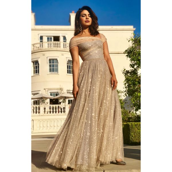 2 bollywood - dior dress priyanka chopra at royal wedding