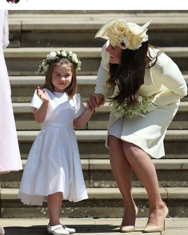 4 princess charlotte and kate middleton at meghan markle's wedding