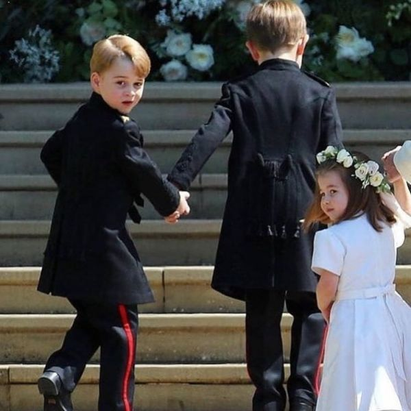6 princess charlotte and prince george at meghan markle's wedding