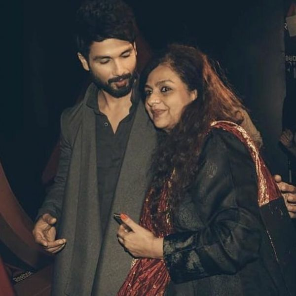 Shahid Kapoor with mother neelima azim