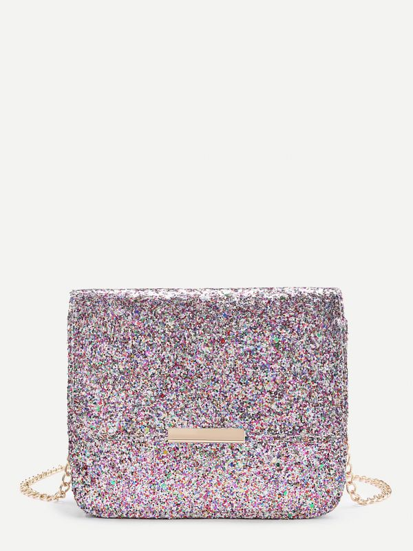 3 romwe glittery crossbody bag sold on sale dinner with the girls