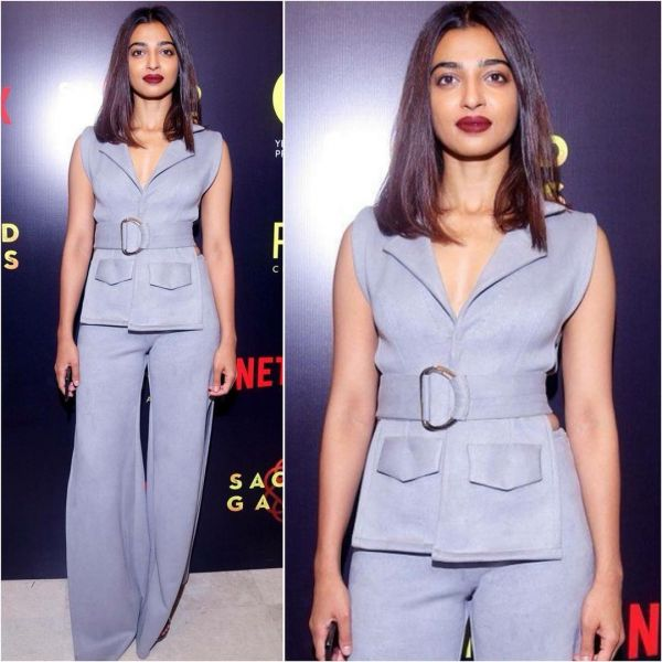 1 pair lip colour with outfit radhika apte
