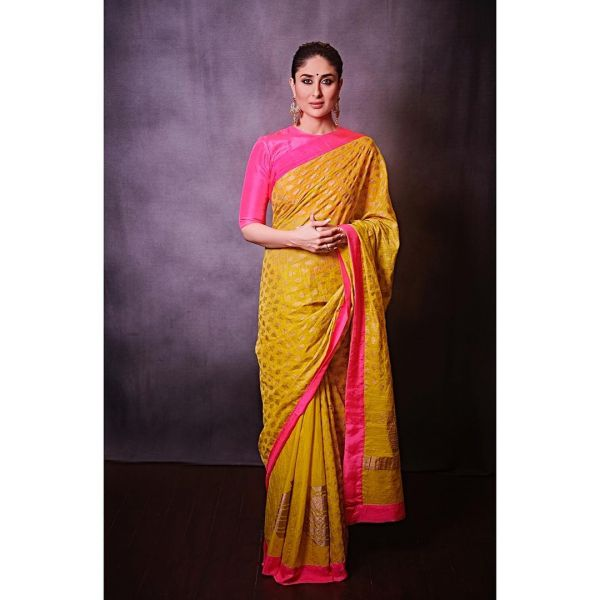 3 kareena technicolour sarees