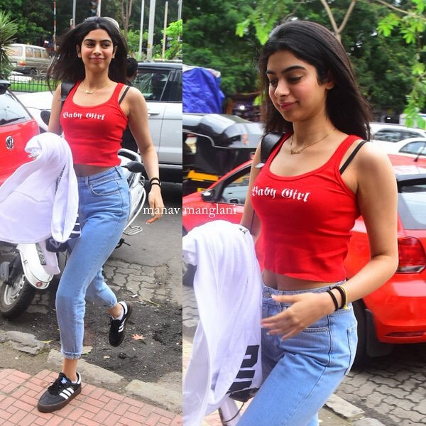 3 khushi kapoor - red baby girl top