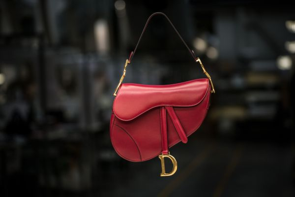 DIOR AUTUMN-WINTER 2018-19 RED CALFSKIN SADDLE-BAG 2