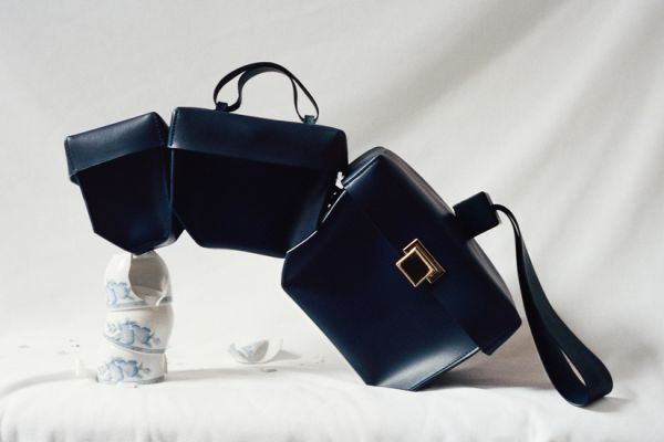 4 handbags - stacking series by khaore navy bag