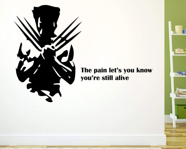 1. wolverine wall sticker