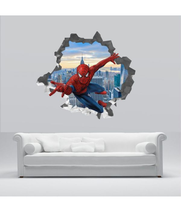 6 spiderman wall sticker