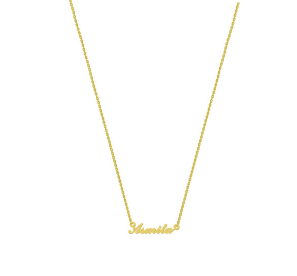 5 gifts - 18K Gold Plated Cursive English Pendant