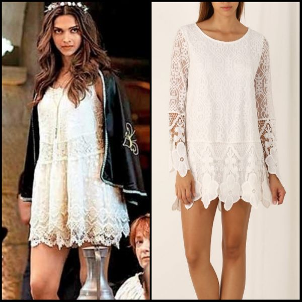 4 dresses from bollywood - deepika padukone white dress tamasha