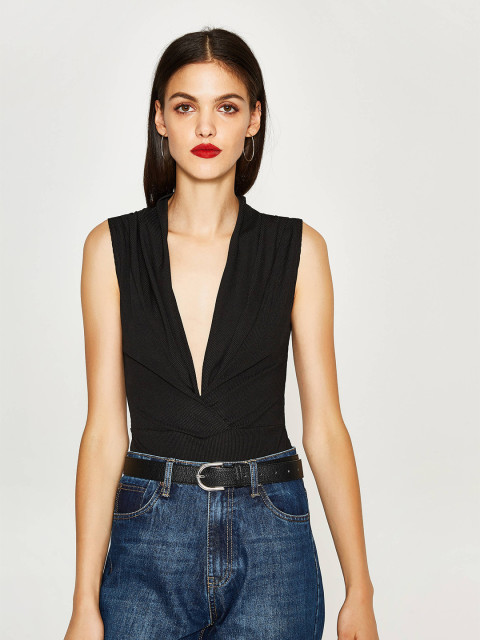 8 date night outfit - OVS Black Bodysuit