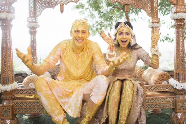 Diipa-Khosla-virtual-wedding-haldi-couple