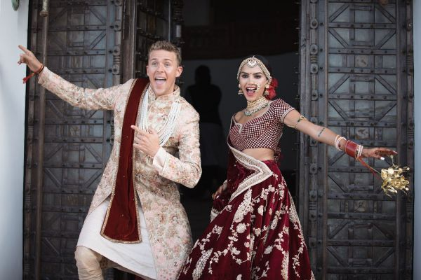 Diipa-Khosla-virtual-wedding-main-day-couple-goofy