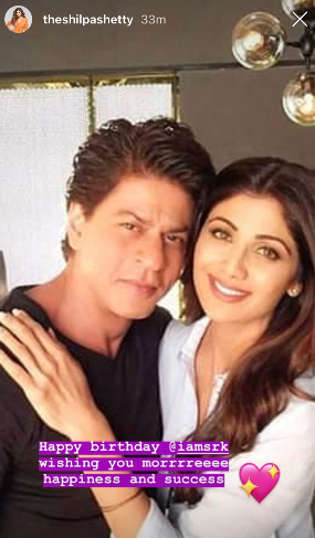 SRK Turns 53   Bollywood Takes To Social Media To Wish Badshaah Of Bollywood-shilpa shetty