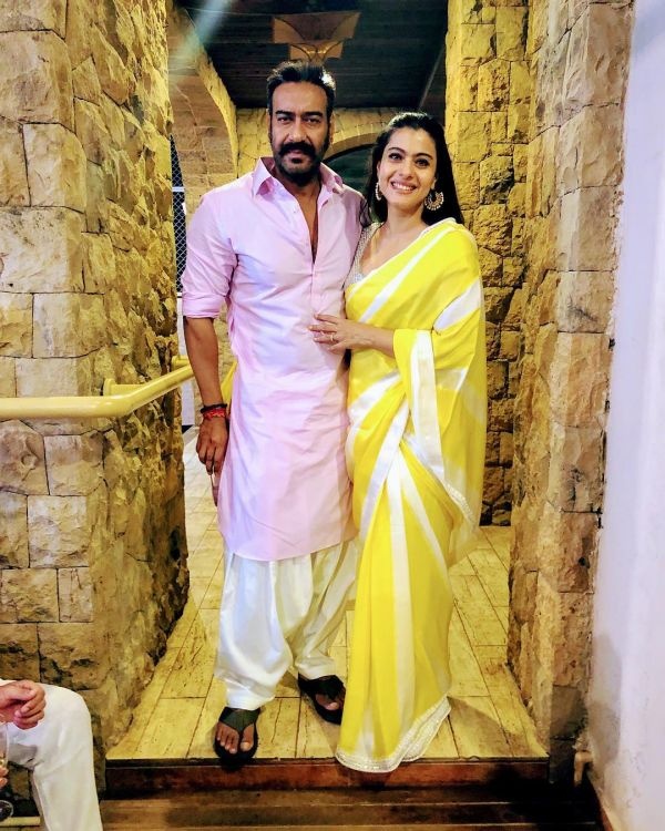 6-bollywood-diwali-kajol-yellow-saree-ajay-devgn