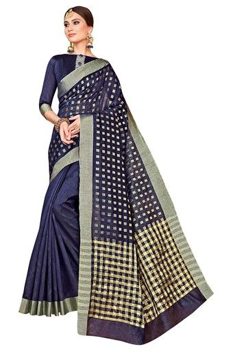 24-sarees-for-farewell-Womens-Solid-Gold-Woven-Saree-Blouse-Piece