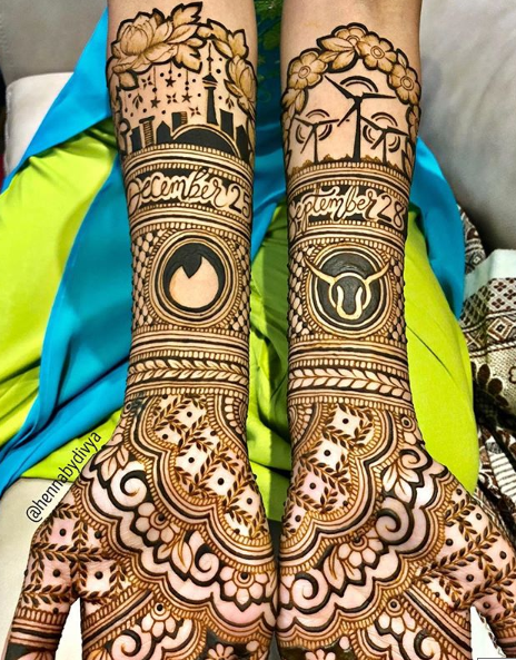 bridal-mehendi-designs-2018-customised