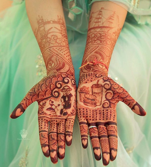 bridal-mehendi-designs-2018-food