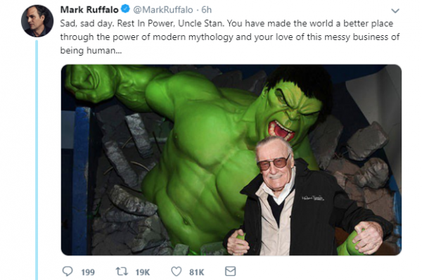 creater of the marvel universe  stan lee dies at 95-markruffalo01