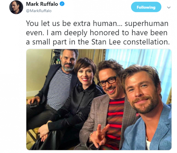 creater of the marvel universe  stan lee dies at 95-markruffalo02