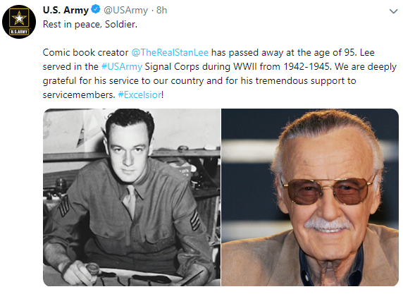 creater of the marvel universe  stan lee dies at 95-usarmy