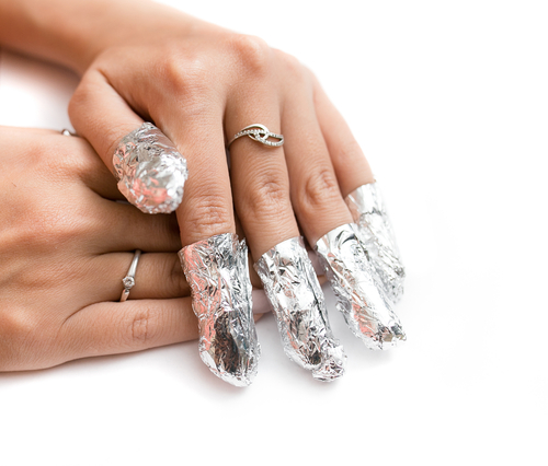 how to remove acrylic nails acetone and foil