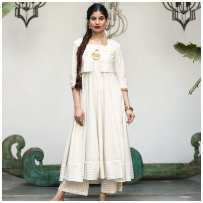 Gold   White Collection of AKS Clothings.