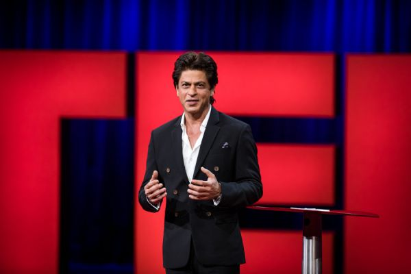 TED talks - shah rukh khan giving a speech