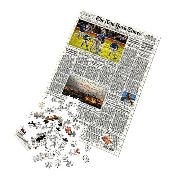 4 valentine's day gift for boyfriend - New York Times Custom Front Page Puzzle