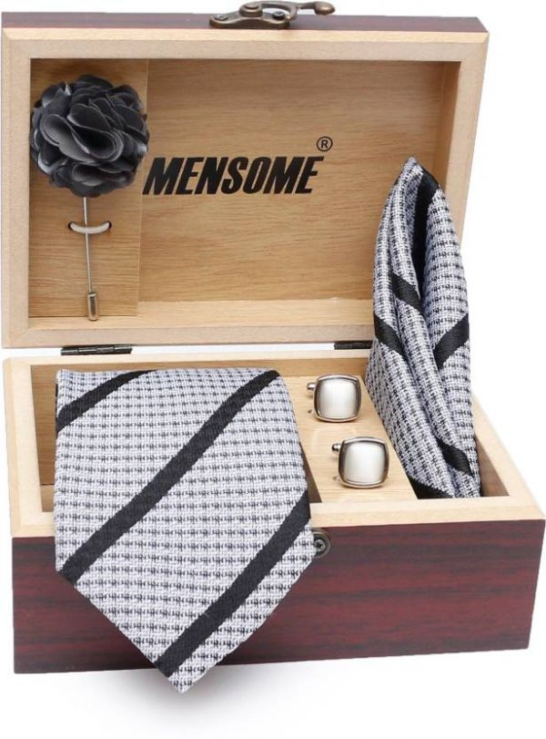 53 valentine's day gift for boyfriend - MENSOME Striped Tie