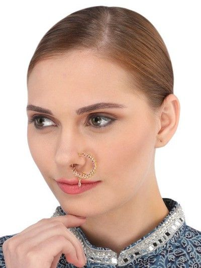 32-Jewellery-design-Gold-Toned-Stone-Studded-Nose-Ring