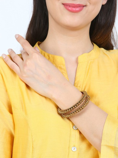47-jewellery-design-Set-of-2-Gold-Toned-Handcrafted-Bangles