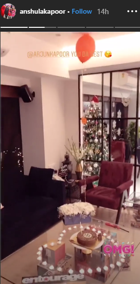 3 Arjun kapoor decorated his house for Anshula's birthday
