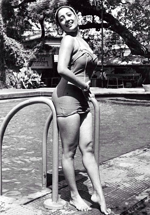 suchitra sen swim suit