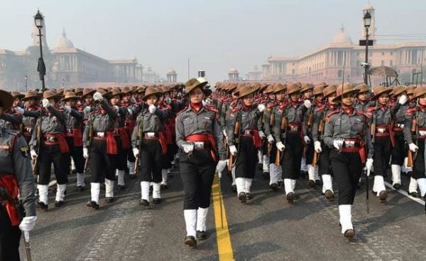 1 All-Women Assam Rifles Contingent Is Making History One Salute At A Time - women marching