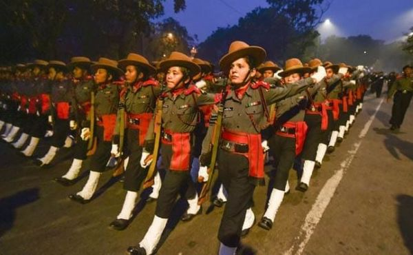 2 All-Women Assam Rifles Contingent Is Making History One Salute At A Time - women marching