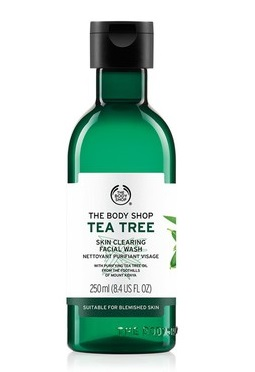 6 carrier and essential oils - the body shop TEA TREE FACE WASH