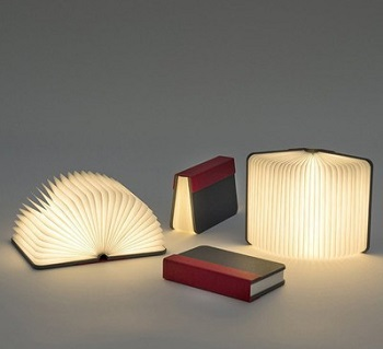 Gifts For Booklovers- book folding lamp