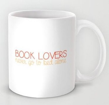 Gifts For Booklovers- white mug