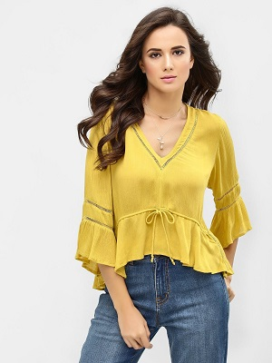 Flared-bell-sleeves-elegant-tops