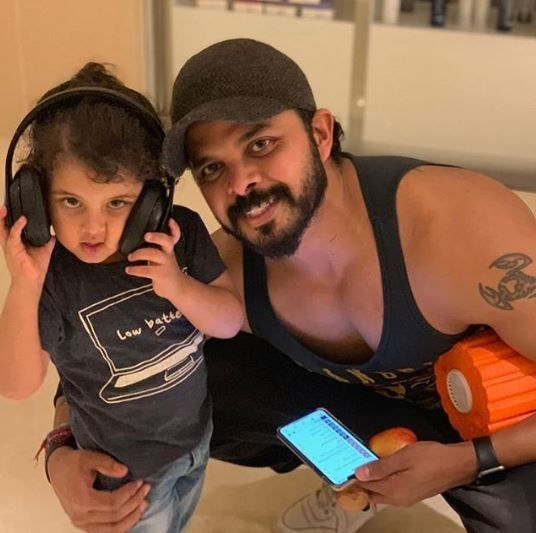 Sreesanth with daughter