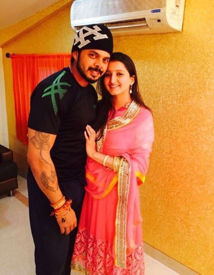 Sreesanth with wife