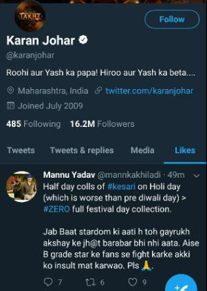 2-karan-johar-liked-offensive-comment-for-srk-on-twitter