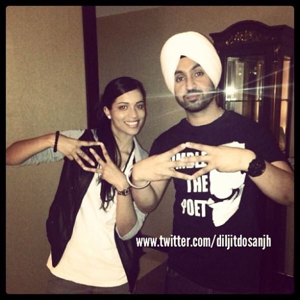 lilly singh with diljit dosanjh