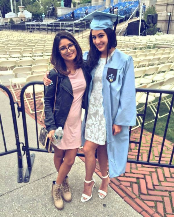 1 sara ali khan works out with her friends in new york sara during her graduation